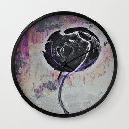 Negro Night Golden Rose Wall Clock