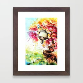 """""""In the red tree"""" Framed Art Print"""