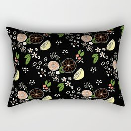 Summer Print Blackboard Rectangular Pillow