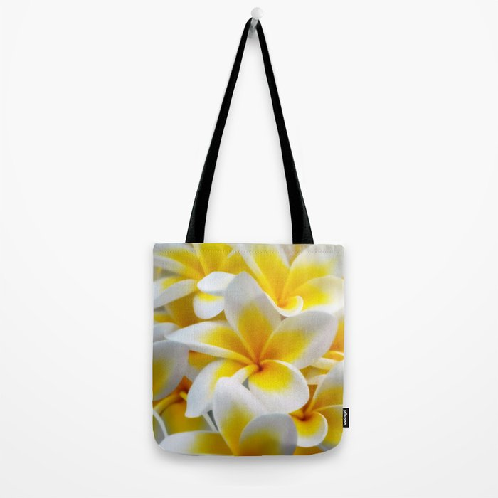Frangipani halo of flowers Tote Bag