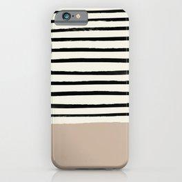 Latte & Stripes iPhone Case