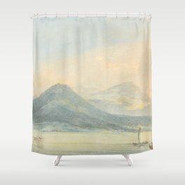 """J.M.W. Turner """"From the Isola Borromena, Lago Maggiore"""" Shower Curtain"""
