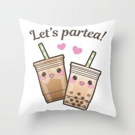 Let's Partea Throw Pillow
