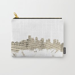 Boston Massachusetts Skyline Sheet Music Cityscape Carry-All Pouch