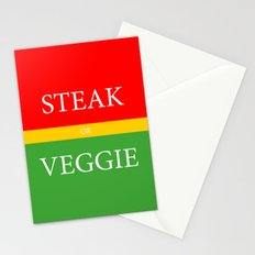 STEAK or VEGGIE Stationery Cards