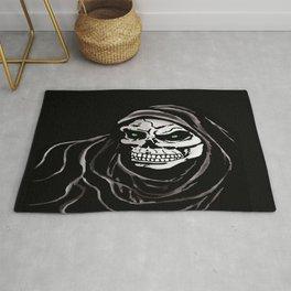 Grim Death reaper Halloween death skull horror day Rug