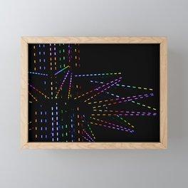 The Carnival Lights that Night Framed Mini Art Print