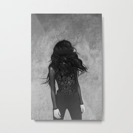 Black wind Metal Print