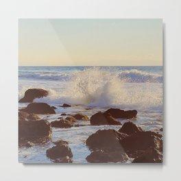 Crashing Shore Metal Print