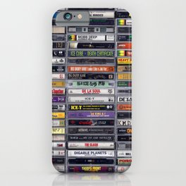Old 80's and 90's Hip Hop Tapes v2 iPhone Case