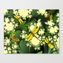 Yellow Dragonflies Canvas Print