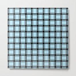 Pastel Blue Weave Metal Print