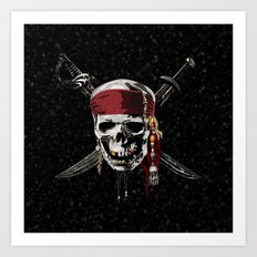 The Swords Of Pirates Art Print