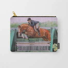 Hunter Over Fences chestnut mare Carry-All Pouch