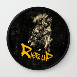 Rise Up - Roaring Lion Revolution Art Wall Clock