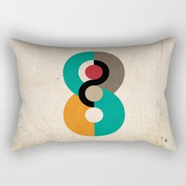 Geometric Scandinavian Art Rectangular Pillow