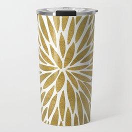 Golden Burst Travel Mug