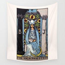 II. The High Priestess Tarot Card Wall Tapestry