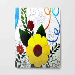 Patterns of flowers. Metal Print