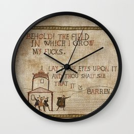 Behold the field Wall Clock