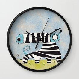 Blue Mummynimal Wall Clock