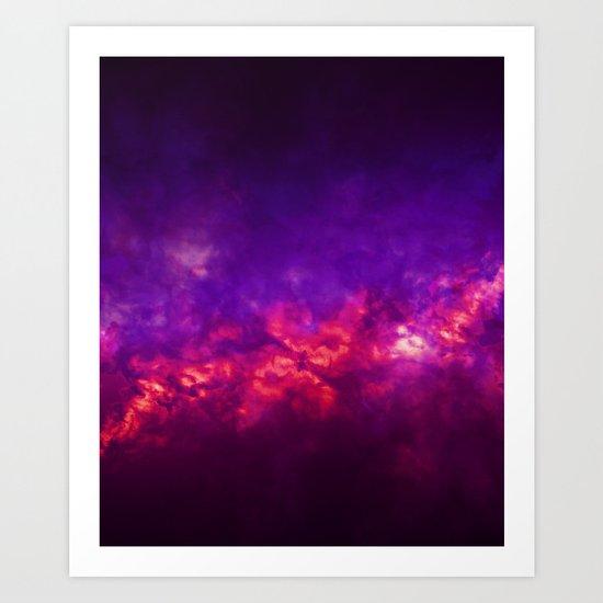 Painted Clouds Vapors I Art Print