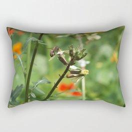 Bee Working Rectangular Pillow