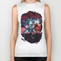 magneto Biker Tanks featuring Magneto vs Megatron by Larrydraws