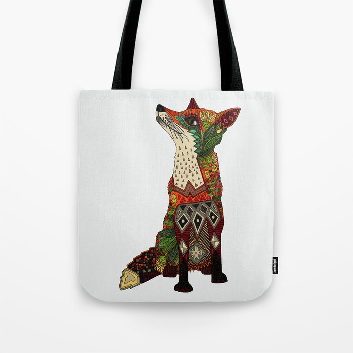 fox love off white Tote Bag