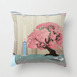 The Lands of Demos Throw Pillow