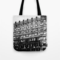 building Tote Bags featuring Building by Tristan Tait