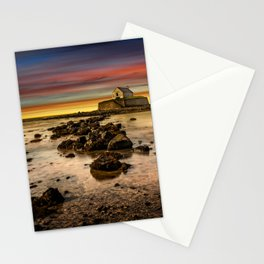 St Cwyfan Sunset Stationery Cards