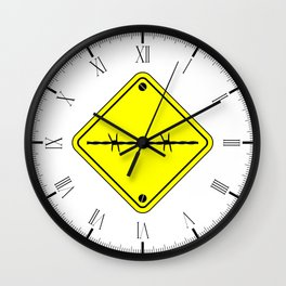 Barbed Wire Warning Sign Wall Clock