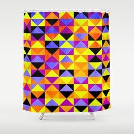 Triangles II Shower Curtain