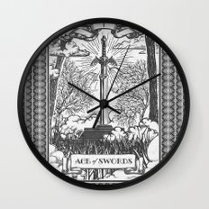 Legend of Zelda Master Sword Vintage Tarot Scene Wall Clock