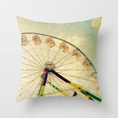 funtastic wheel Throw Pillow