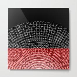 Geometric Rings Metal Print