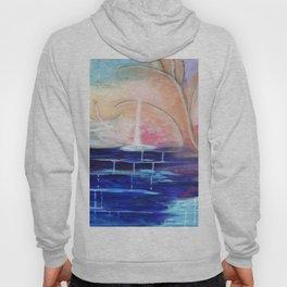 Flourescent Waterfall Painting. Waterfall, Abstract, Blue, Pink. Water. Jodilynpaintings. Hoody