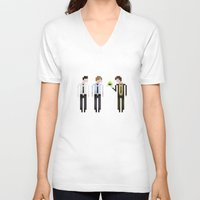 the office V-neck T-shirts featuring The Office by LOVEMI DESIGN