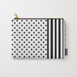 Black and white star pattern . Carry-All Pouch
