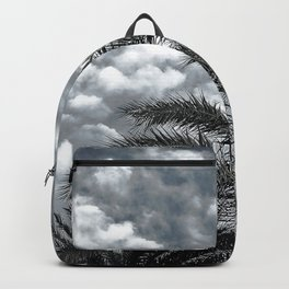 Tropical Island Palm Trees Upshot Framed By Clouds Backpack