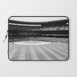 Safeco Field in Seattle Washington - Mariners baseball stadium in black and white Laptop Sleeve