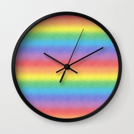 Frosted Rainbow  Wall Clock