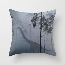 Dinosaur by Moonlight Throw Pillow