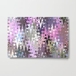 Violet shades icicles, abstract geometric jagged shapes, sharp forms Metal Print