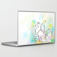 wolves Laptop & iPad Skins featuring Wolves by Amanda Vieira