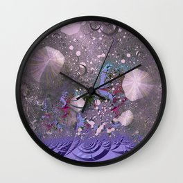 The ocean and skies of random thoughts Wall Clock