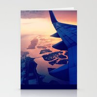 plane Stationery Cards featuring Plane by Leah Galant