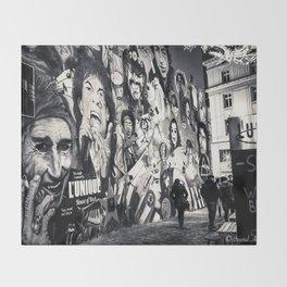 Rock n Roll Streets Throw Blanket