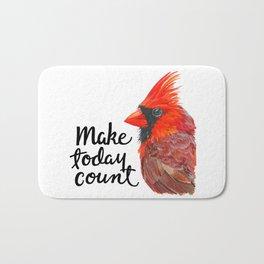 """Cardinal """"Make Today Count"""" Bath Mat"""